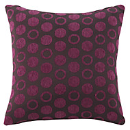 Chenille / Polyester Pillow Cover , Polka Dots Modern/Contemporary