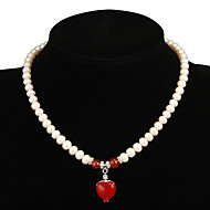 Women's Pearl Necklace Anniversary/Gift/Party/Special Occasion Ruby