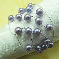 Mesh Akrylové korálky prsten ubrousku, Dia4.2-4,5 cm Sada 12