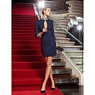 kappe / kolonne høj hals kort / mini trøje cocktail kjole (723.795)