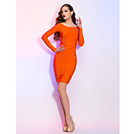 Homecoming Cocktail Party/Holiday Dress - Orange Sheath/Column Bateau Short/Mini Jersey
