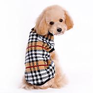 Katte / Hunde Bluser Brun Hundetøj Vinter / Forår/Vinter Plæd / Tern Klassisk / Hold Varm