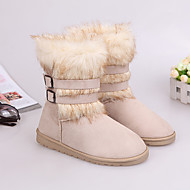 Guosheng Fashion Fox Fur Sne Boots (Cream)