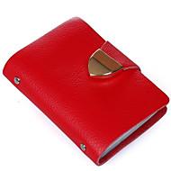 Mulher Bolsas Todas as Estações Couro de Gado Porta Cartão com para Casual Vermelho Verde Azul Rosa claro Melancia