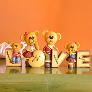 "11""Love Bear Style Polyresin Collectibles Set(4 PCS)"