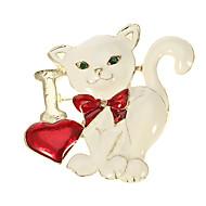 Women's  Cute cat-Shaped Zinc alloy Brooch LTJS-XZ102