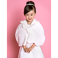 Kids' Wraps / Fur Wraps Capelets Sleeveless Faux Fur Ivory Wedding / Party/Evening / Casual Fold-over Collar Lace-up Yes