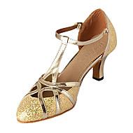 obcasy nowoczesnych dostosowane kobiet blask musujące z butami klamra tanecznych (więcej kolorów)