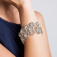 Damen Armbänder Breiter Armreif Alluminium Strass