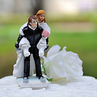 "Cake Toppers ""Skiing Together""  Resin Figurine  Cake Topper"