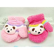 Children's Candy Color Coral Fleece Gloves(Random Color)