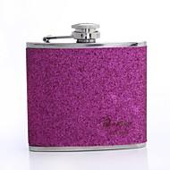 gepersonaliseerde gift van het Vaderdag splash 5oz pu leer fles (goud, roze, roze)