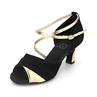 Women's Leatherette&Suede Upper Ankle Strap Latin / Ballroom Dance Shoes For Women