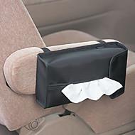 Moderní Solid Black Canvas Tissue Box