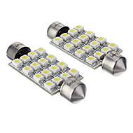 Festoon 車載 コールドホワイト SMD 3528 6000 計器灯 ライセンスプレートライト 方向指示灯 ブレーキライト
