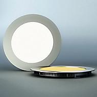 LED Panel Light, 60 Light, Modern Ultrathin Round Aluminum PC Casting