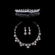 Crystal Alloy Wedding/Party Jewelry Set With Rhinestone