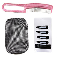 Wig Care Set(1*Steel Comb,8*Clips and 1*Wig Cap Liner)