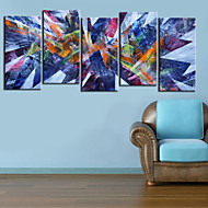 Stretched Canvas Print Art Abstract Prisma Set of 5