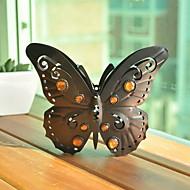 모조 다이아몬드를 가진 나비 모양의 금속의 Candel 홀더