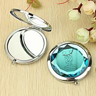 Personalisierte Geschenke Herz und Liebhaber Muster Chrome Taschenspiegel