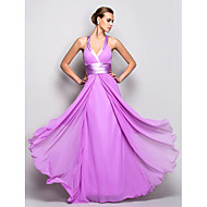 TS Couture® Prom / Military Ball / Formal Evening Dress - Lilac Plus Sizes / Petite A-line Halter Floor-length Georgette