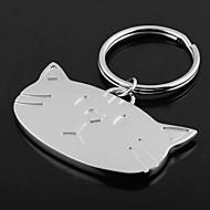 Individuelle Gravur Geschenk-Katze-Kopf geformt Schlüsselbund