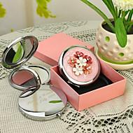 Personlig gave Shivering Style Pink Chrome kompakt spejl