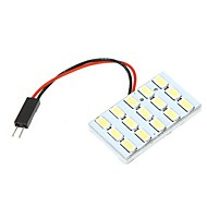 5630 SMD 15 LED White Light til bil interiør med 3 adaptere