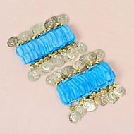 Belly Dance Coin Décor Chiffon Arm Cuffs Wrist Bracelets(10 Colors Available)