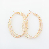 European Style Retro Fashion Oval Party Alloy Drop Earrings
