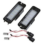 골프 파사트 CC 에오스에 대한 쌍 오류 무료 18 3528 SMD LED 번호판 빛 램프