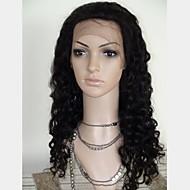 20 tommer Soft Curly 100% Human Hair Lace Frontal Paryk justerbar størrelse Cap Fås i flere farver