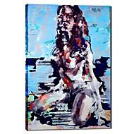 ストレッチフレームと手描きの油絵の人々セクシーな女性のヌード