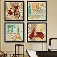 Arquitetura Quadros Emoldurados / Conjunto Emoldurado Wall Art,PVC Preto Sem Cartolina de Passepartout com frame Wall Art