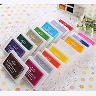 Cartoon Colorful Plastic Ink Pad(4 Package)(Random Color)