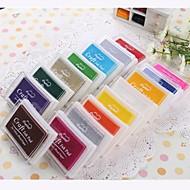 צבעוני פלסטיק Ink Pad הקריקטורה (4 חבילה) (Random Color)