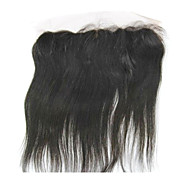 """20"""" Brazilian Hair Silky Straight Lace Frontal Closure(13""""*4"""") Natural Color"""