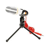 666 3.5mm stereo plug Bracket Hoge kwaliteit KTV microfoon (Wit)