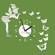 """20 """"H Moderne stijl Hoek Butterfly Mirror Wall Clock"""