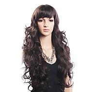 High Quality 20% Human Hair & 80% Heat-resistant Fiber Hair Capless Long Wavy Wig(Blonde)