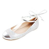 Leatherette Women's Flat Heel Cap-toe Flats Shoes