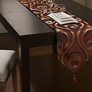 or de style jacquard rouge chemins de table poly-soie européennes