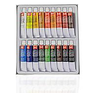 18PCS Pintura, Desenho profissionais da arte do prego de pintura Kits pigmento