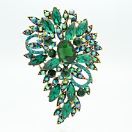 Pretty 8.5cm Alloy and Rhinetone Floral Brooch Pin (More Color)
