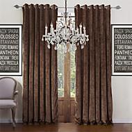 Dva panely Window Léčba Moderní , Jednolitý Obývací pokoj Polyester Materiál záclony závěsy Home dekorace For Okno