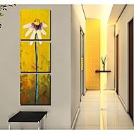 Dien Abstrakt Blumen bedruckt Three-Piece Gemeinsame Rahmenlose Gemälde 9113