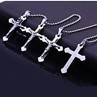 Personalized Gift   Stainless Steel   Cross   Engraved Pendant Necklace Jewelry (Within 10 Characters)