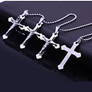 Personalisierte Geschenke Edelstahl-Kreuz-Gravur-Anhänger-Halskette Schmuck (Innerhalb von 10 Zeichen)