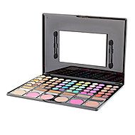 78 Paleta de Sombras Secos / Brilho / Mineral Paleta da sombra Pó GrandeMaquiagem para o Dia A Dia / Maquiagem de Fada / Maquiagem
